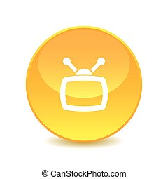 television , television icon Vector on the background , vector