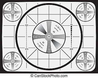 Television Test Pattern - Cool Retro Television Test Pattern