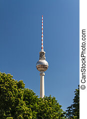 television tower in berlin mitte