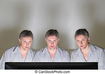 Television triplets - Three identical clones or triplets...