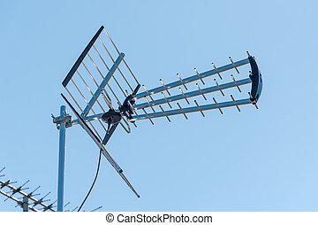 television, udendørs, antenne