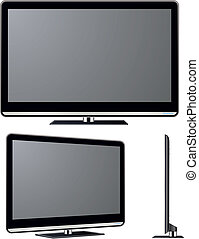 Television vector set - Modern TV vector set. Electronics...