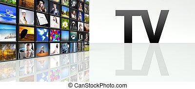 Television video wall LCD TV panels