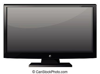 Television with flat screen