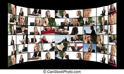 televisione, fotomontaggio