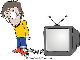 televisione, intrappolato