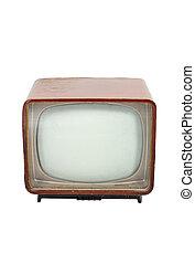 televisione legno, vecchio