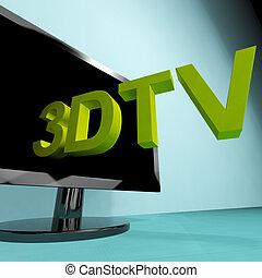 televisione, tv, tre dimensionale, significato, hd, 3d