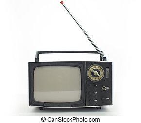 televison, retro, przenośny