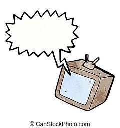 televisore, cartone animato