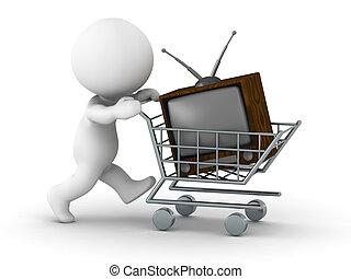 televize, 3, nakupování, voják