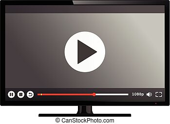 televize, hráč, chránit, video, bystrý