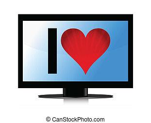 televize, nitro, dát, ilustrace