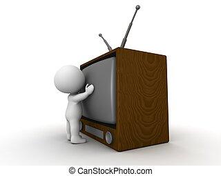 televize, uzavřít, chránit, voják, 3