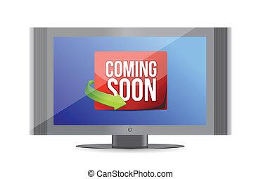 televize zastínit, brzo, dorůstající