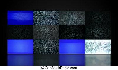 telewizja, ściana, video