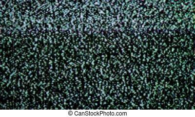 telewizja, hałas, stary, statyczny, elektronowy, zawładnięty