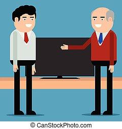 telewizja, oferty, klient, sprzedawca