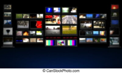 telewizja, -, zamazane tło, hd, studio.