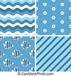 telha, vetorial, patterns., seamless