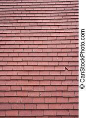 telhado azulejo, fundo, vermelho