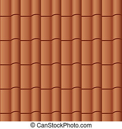 telhado azulejo, vetorial, seamless, fundo