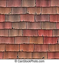 telhado, azulejos