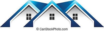 telhado, casas