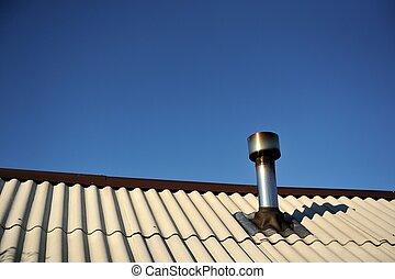 telhado, chaminé