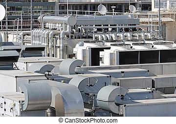 telhado, condicionador ar