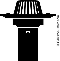 telhado, dreno, siphonic