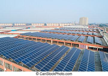 telhado, energia solar
