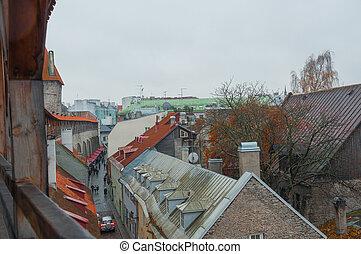 telhados, de, tallinn.