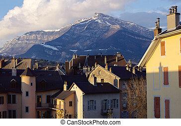 telhados, montanha, chambery, savoy, frança