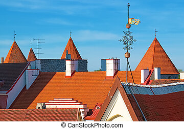 telhados, tallinn., estónia