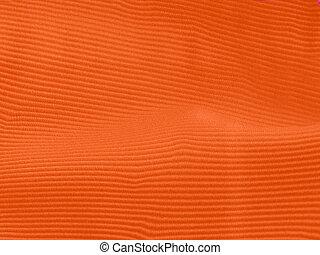 teljes, narancs, textil, háttér