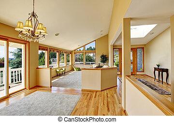 teljes, terület, windows, sok, maradék, tágas, nézet.