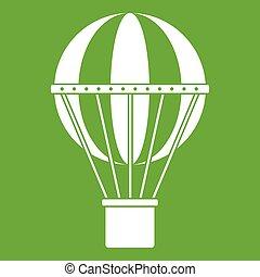 teljes utazás, fogalom, zöld, ikon