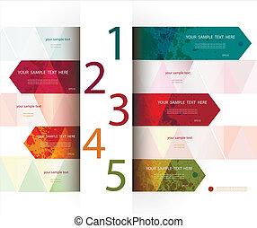 teljesen, tervezés, editable, template., vector.