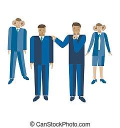 Telling a business secret vector illustration