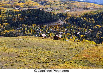 Telluride, Colorado - Autumn landscape near Telluride in...