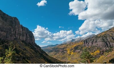 Telluride Colorado Time-lapse Wide angle - Telluride...