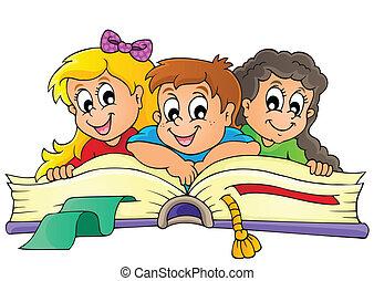 temático, imagen, niños, 5