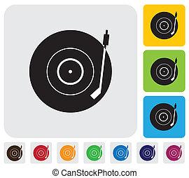 tem, útil, registro, simples, antigas, ícone, vetorial, &, ...