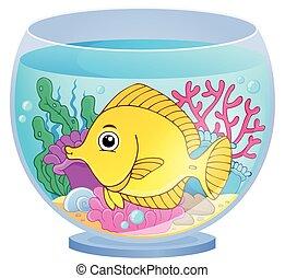 tema, 2, acuario, imagen