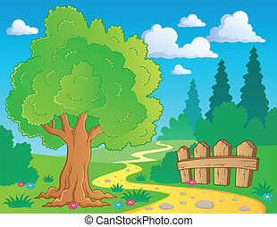 tema, 2, albero, immagine