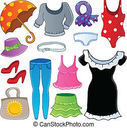 tema, 2, collezione, vestiti