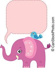 tema, 2, copyspace, elefante
