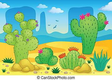tema, 2, deserto, immagine