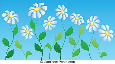 tema, 2, flor, imagem